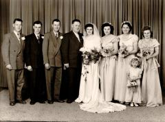 Ray Olstad and Hilda (Isler) wedding